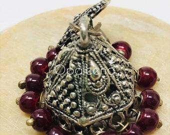Hexagon Earring, Silver earrings, handmade earrings, Indian jewelry, asian jewelry, Geometric design