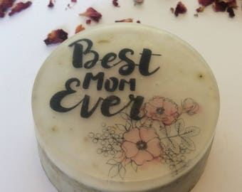 Best mom ever handmade organic soap, perfect gift for mom