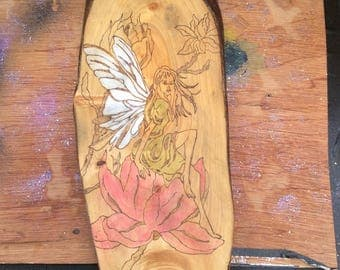 Pyrography hand crafted picture