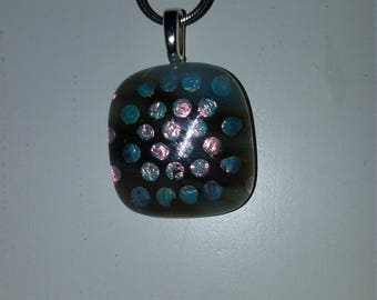 Zume Glass - Spotted Dichroic Glass Fused Pendant