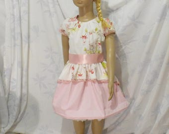 cotton ceremonial dress and satin