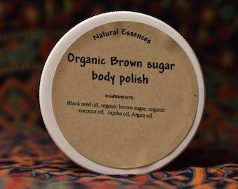 Organic brown sugar body polish