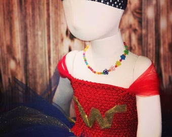 Wonder Woman Inspired Child's Tutu