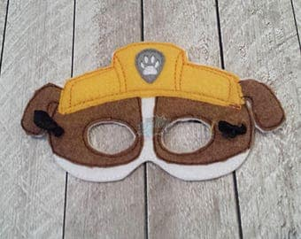 Construction Paw Masks Puppy, Hero, Working Dog, Patrol, Inspired Mask, Pretend Play, Imagination