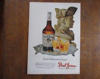 1948 Original Vintage Paul Jones Blended Whiskey ad