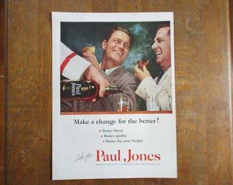 1954 Original Vintage Paul Jones Blended Whiskey ad