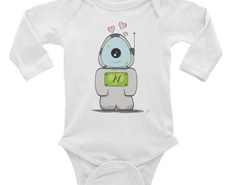 AliNation Infant Long Sleeve Bodysuit Ali 1