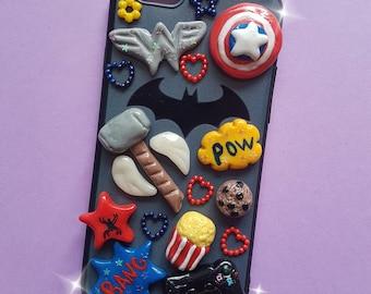 Handmade decoden Marvel superheroes DC comics phone case