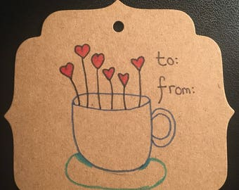 Teacup gift tag