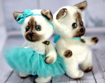 Siamese kitten, soft toy from ukraine. The best gift for the girl and boy.