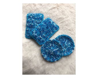 Crocheted Sponge and Pot Scrubby Set