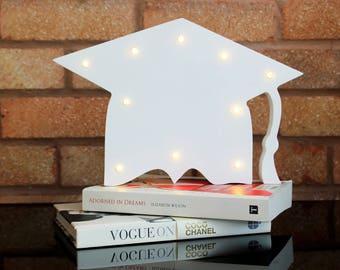Light up graduation hat