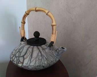 raku pottery teapot