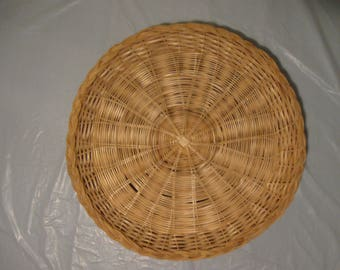 Vintage Wicker Paper Plate Holders Set of Four Picnic Wicker & SIX Wicker Paper Plate Holders Picnic Colorful Painted