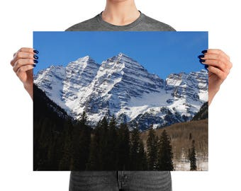 The Maroon Bells, Aspen Colorado - Printed Photography,  Home Decor, Wall Art, Photography, Mountains, Nature Photography, Landscape Photo