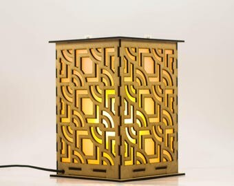 Inca Pattern Table Lamp by SIXTH