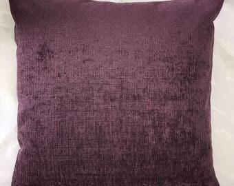 Purple velvet handmade cushion cover