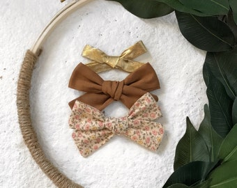 3 Pack Spring Garden Walk Bows Classic Hand Tied Bow Bows Nylon or Clip