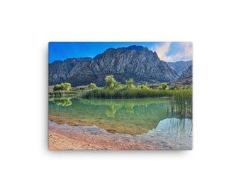 Harriet Lake Nevada  Canvas Print, Variable Finishes Available, Office Decor Large Wall Art, Canvas Art,  2016.09.16_HarrietLake