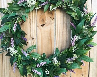 Handmade grapevine Spring wreath | home decor | nursery | farmhouse | olive branch | eucalyptus | wedding