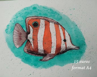 Fish in ink