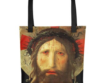 Christian gift for her - Jesus Christ tote bag - Christian gifts - religious bags - christian art - Jesus bags