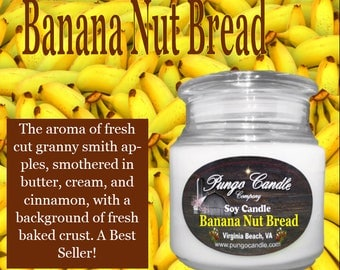 Banana Nut Bread Scented Soy Jar Candle (16 oz.)