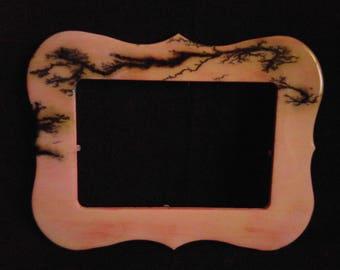 Pink Fractal burnt frame