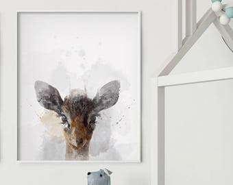 Safari Antelope - Nursery Wall Art - Safari Nursery Art - Watercolor - Painting - Art print - Print