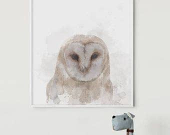 Barn Owl - Owl Art - Owl Canvas - Owl Wall Art - Owl Nursery Art - Owl Wall Decor