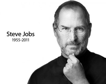 Steve Jobs Portrait Printing On Canvas, Wall Art, Canvas Prints, Room Deco, Famous Person, Inspiring Printing