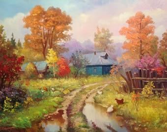 Autumn rustic morning