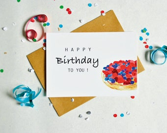 Card Happy Birthday to you A6