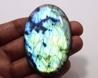 156.76cts Natural Multi flash Labradorite oval   65X44X6 mm Labradorite loose gemstone amazing & beautifull Labradorite nice flash AA-24