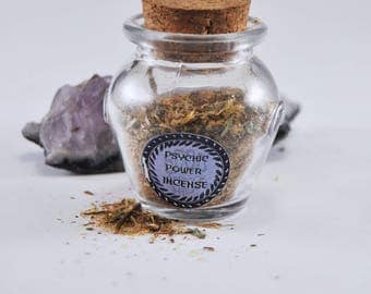 Magical Psychich Power Incense -  all natural hand blended loose incense - Attract and strengthen psychic power - Magic  - modern wicca