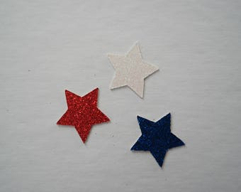 Glitter Red, White & Blue Star Confetti | Custom Made | Party Confetti | 4th of July Party | Patriotic