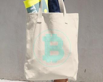 BITCOIN Crypto Fan Cotton Tote Bag