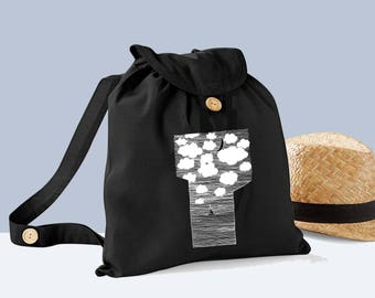 Organic hand - cotton boat backpack