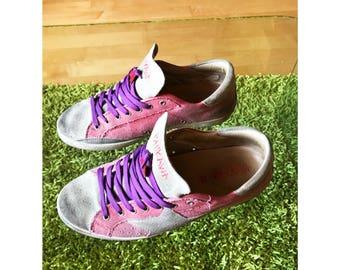 Custom Sneaker, vintage effect, number 43, Ishikawa craft