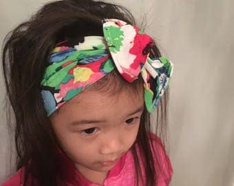 Toddler floral topknot head band