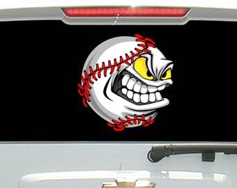 Cartoon Angry Baseball Softball