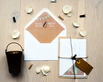 Envelope Liners - Rustic Happiness