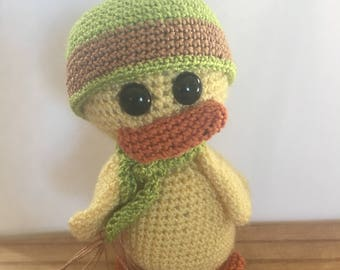 Yellow Crochet Amigurumi Duck