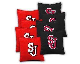 St John's Red Storm Cornhole Bags - Set of 8