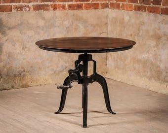 Industrial Metal Atholl Crank Table