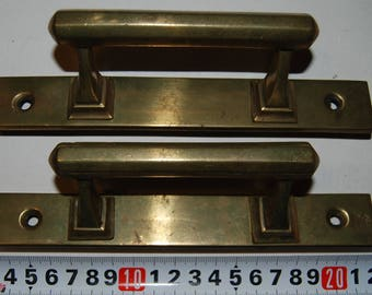 Antique Russian brass window handles, 2 pcs. XIX century, St. Petersburg, Russia. Weight 640 g (e013)
