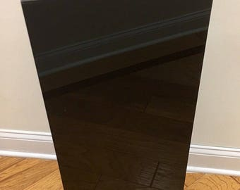 "Black Square Pedestal - 36"" high x 12"" square"
