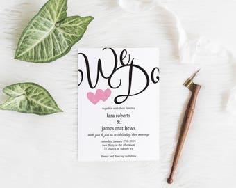 We Do Wedding Invite Kit #0004