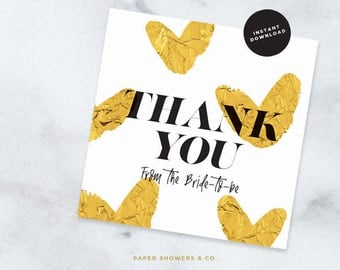 Thank you Greeting Card - INSTANT DOWNLOAD