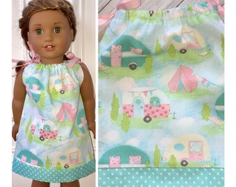 "18"" Doll Clothes/Pillowcase Dress/American Girl Dress/Camping Fun"